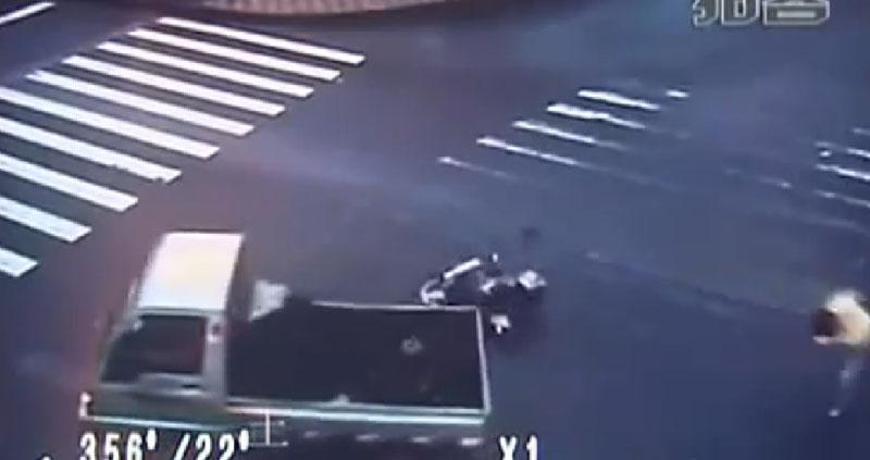 Acidente de Moto Incrível