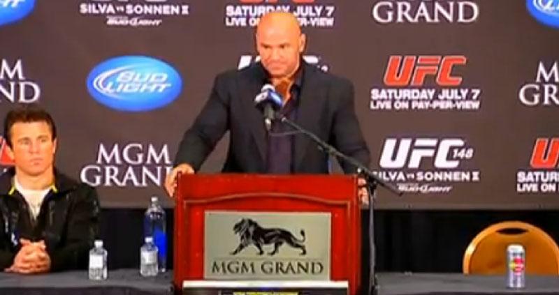 UFC 148: Dana em Entrevista pós-luta